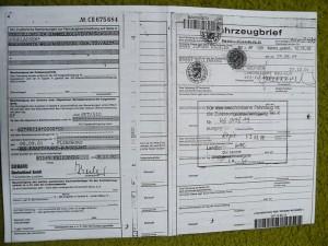 Edellisen omistajan rekisteröintitodistus