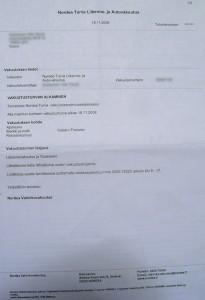 Ensimmäinen vakuutus Nordeasta ennen IFiin vaihtoa